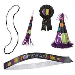 60-as Birthday Cheer Szülinapi Parti Szett - 5 db-os