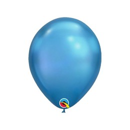 7 inch-es Chrome Blue - Kék Kerek Lufi (100 db/csomag)
