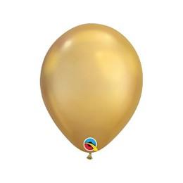 7 inch-es Chrome Gold - Arany Kerek Lufi (100 db/csomag)