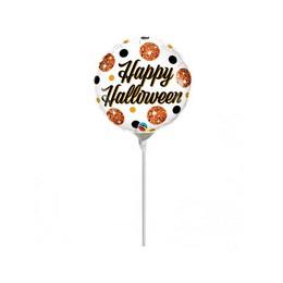 9 inch-es Halloween Sparkly Dots Halloween Fólia Lufi (5 db/csomag)
