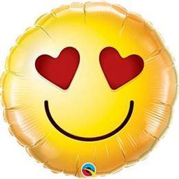 9 inch-es Smiley Love Fólia Lufi (5 db/csomag)