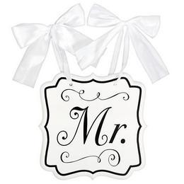 Mr. Feliratú Esküvői Tábla, 24 cm x 24 cm
