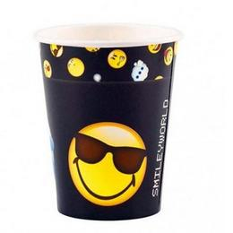 Smiley Emoticons Parti Pohár - 250 ml, 8 db-os