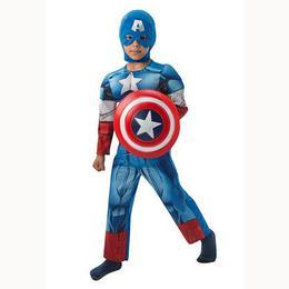 Amerika Kapitány - Captain America Jelmez Gyerekeknek, L-es