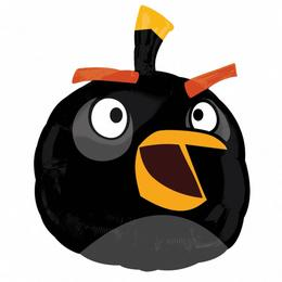 Angry Birds - Fekete Madár Super Shape Fólia Lufi