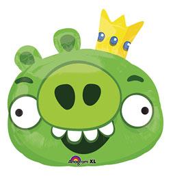 Angry Birds - Zöld Malac Super Shape Fólia Lufi