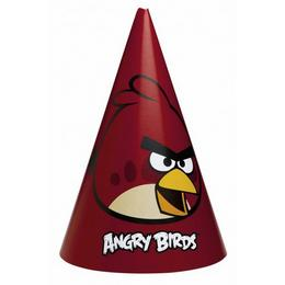 Angry Birds - Piros Madár Parti Kalap - 6 db-os