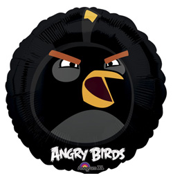 18 inch-es Angry Birds - Fekete Madár - Fólia Lufi