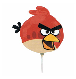 Angry Birds - Red Bird Mini Shape Fólia Lufi (5 db/csomag)