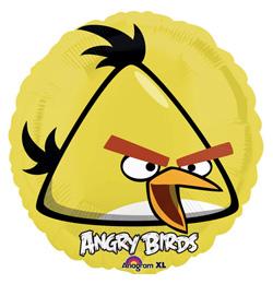 18 inch-es Angry Birds - Sárga Madár - Fólia Lufi