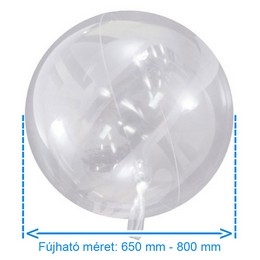 Aqua Áttetsző Lufi - 470 mm