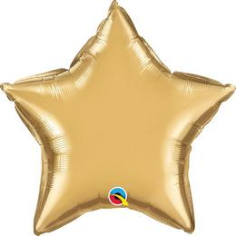 20 inch-es Chrome Gold Csillag Fólia Lufi