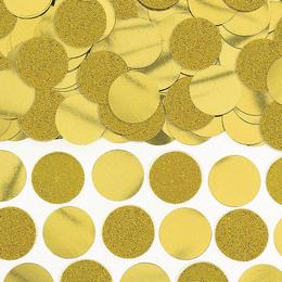 Arany Csillogó - Glitteres Kerek Fólia Parti Konfetti - 63 gramm