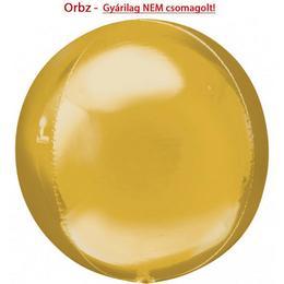 Arany - Gold Orbz Fólia Lufi