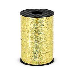 Arany Holografikus - Csillogó Virágkötöző Szalag - 225 m