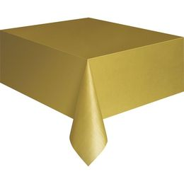 Gold Műanyag Parti Asztalterítő - 137 cm x 274 cm
