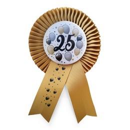 Arany Szalagos 25-ös Elegáns Léggömbös Szülinapi Számos Parti Kitűző