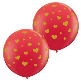 3 feet-es Random Hearts-a-rnd Red Lufi (2 db/csomag)