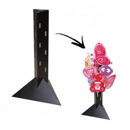 Asztali Lufioszlop Állvány Fekete Kartonból