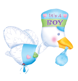 It is a Boy - Bundle of Joy Stork - Super Shape Fólia Lufi Babaszületésre