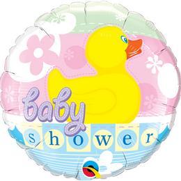 18 inch-es Gumi Kacsás - Baby Shower Rubber Duckie Fólia Lufi Babaszületésre