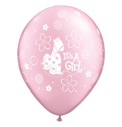 11 inch-es It is A Girl Soft Pony Prl Pink Lufi Babaszületésre (25 db/csomag)