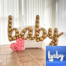 Baby Feliratú Dekorációs Keret Lufihoz
