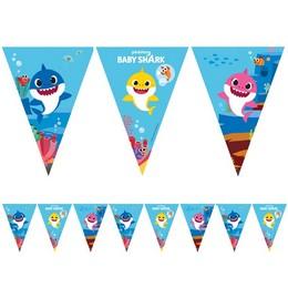 Baby Shark Parti Zászlófüzér - 230 cm