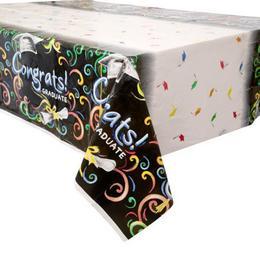 Chalkboard - Congrats Graduate - Ballagási Asztalterítő  - 137 cm x 213 cm