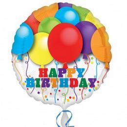 18 inch-es Bright Balloons Birthday Szülinapi Fólia Lufi