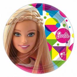 Barbie Sparkle Papír Parti Tányér - 23 cm, 8 db-os