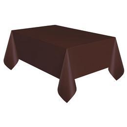 Barna Műanyag Parti Asztalterítő - 1,4 m x 2,75 m