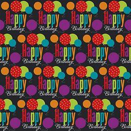Birthday Cheer Szülinapi Parti Csomagolópapír - 150 cm x 76 cm