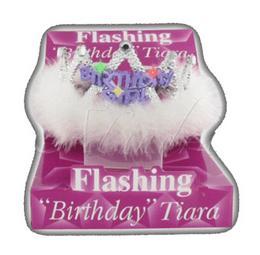 Világító Strasszos Szülinapi Tiara - Birthday Girl
