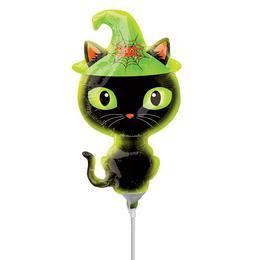 Black Kitty - Fekete Cica Mini Shape Fólia Lufi (5 db/csomag)