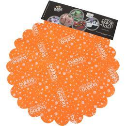 Boldog Szülinapot Feliratú Narancssárga Szülinapi Kerek Dekorációs Textil - 48 cm, 24