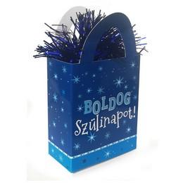 Boldog Szülinapot Kék Fiús Ajándéktasak Léggömbsúly - 120 gramm