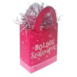 Boldog Szülinapot Rózsaszín Lányos Ajándéktasak Léggömbsúly - 120 gramm
