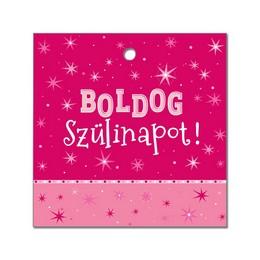 Boldog Szülinapot! Rózsaszín Környezetbarát Léggömbsúly - 16 gr. (10 db/csomag)