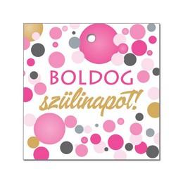 Boldog Szülinapot! Pink Konfettis Környezetbarát Léggömbsúly - 16 gr. (10 db/csomag)