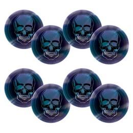Boneshine Fever - Koponyás Tányér Halloween-re - 23 cm, 8 db-os