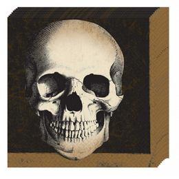 Boneyard - Koponyás Parti Szalvéta - 33 cm x 33 cm, 20 db-os