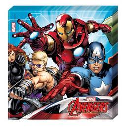 Bosszúállók - Mighty Avengers Parti Szalvéta - 33 cm x 33 cm, 20 db-os
