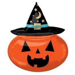 Boszi Tök - Witchy Pumpkin Super Shape Fólia Lufi Halloween-re