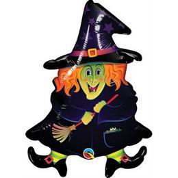 14 inch-es Boszi - Wacky Witch - Fólia Lufi Halloweenre (5 db/csomag)