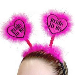 Bride to Be Feliratú Pink Tollas Fejdísz Lánybúcsúra