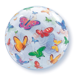 22 inch-es Pillangó Mintás - Butterflies Bubble Lufi