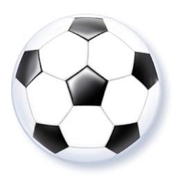 22 inch-es Foci Labda Mintás - Soccer Ball Bubble Lufi