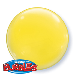 15 inch-es Yellow - Sárga Deco Bubble Lufi - 4 db-os