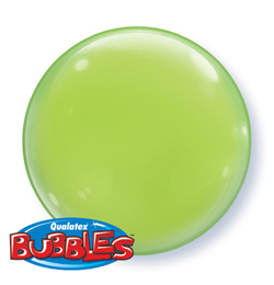 15 inch-es Lime Green - Limezöld Deco Bubble Lufi - 4 db-os